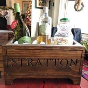 engraved wine chiller