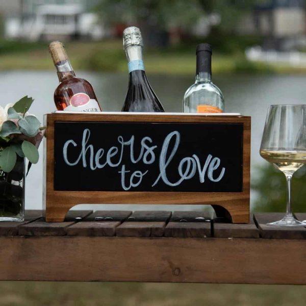 chalkboard wine chiller