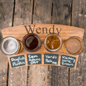 personalized beer flight