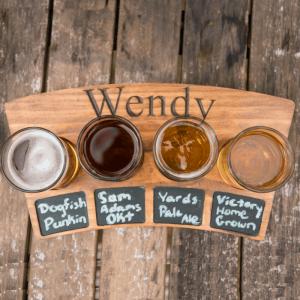 personalized beer flight