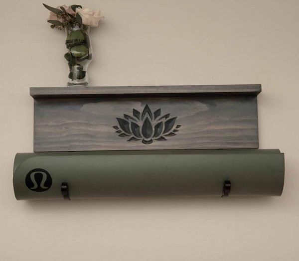 lotus yoga mat holder