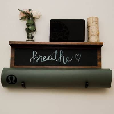 chalkboard yoga mat holder