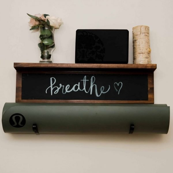 chalkboard yoga mat holder