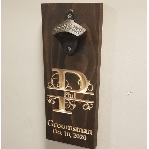 Java groomsman beer opener
