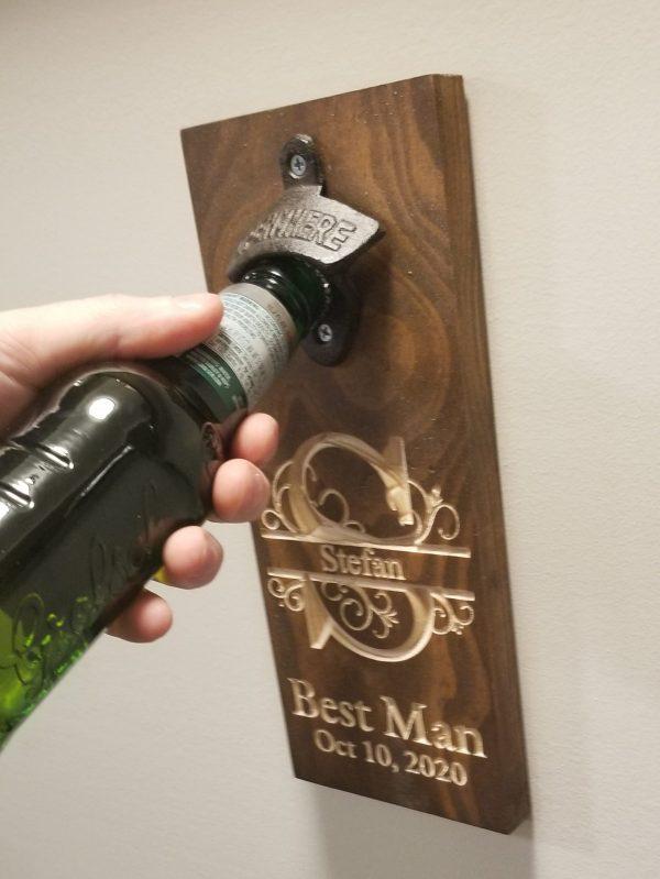 best man beer opener